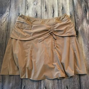 Athleta tan skort size 14.